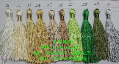 Tassel color card 21-30, spike, pendant, spike head