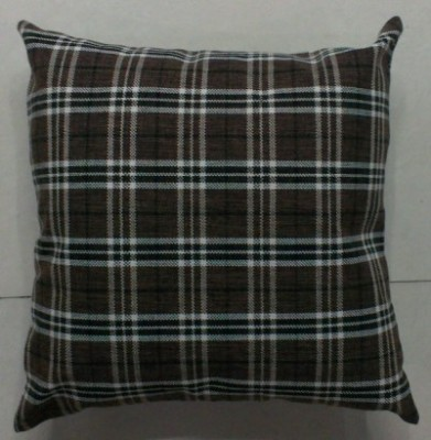 Genuine linen plaid sofa cushions double square pillow foreign trade sample.