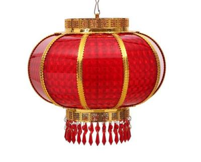 40 round turn lights Crystal acrylic zouma Lantern festivity plastic turn lights the red LED's plug-in lamp