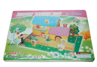 Toy three-dimensional puzzle educational toys, models, and paper model