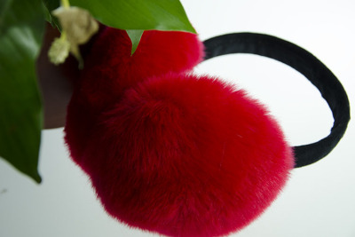 Nuan Er Duo  factory direct folding rabbit fur earmuffs Yiwu city four areas to buy
