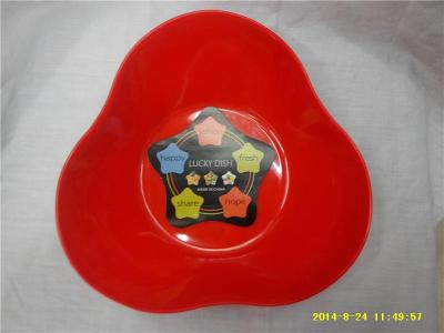 Triangular fruit candy nut dish storage plate thickened fall-tolerant fruit RS-4369