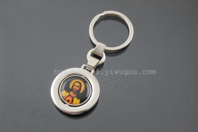 The explosion of Metal Keychain Key Ring Pendant painting creative factory direct