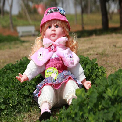 Doll birthday gift music simulation smart talking vinyl doll doll doll