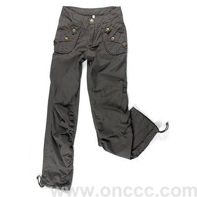 Grey ladies casual trousers for women's wear