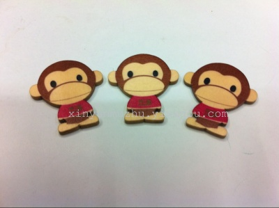 Wooden cartoon color cute monkey clothing accessories footwear accessories
