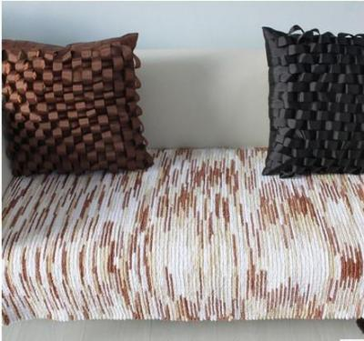 American-style premium striped cotton chenille sofa cushion fabric slip sofa towel