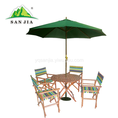 Certified SANJIA outdoor camping products aluminum alloy folding tables and chairs