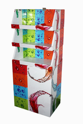 Single product combination multi-form self-purchase dazzle color display rack