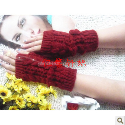 Korean fashion show means three twist short gloves non-mainstream unisex gloves