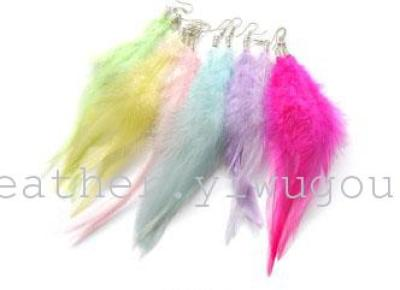 40595 Yi Ya feathers, the export trade of jewelry, big brand in Europe and America, feather earrings wholesale, national badminton, Yiwu small commodity