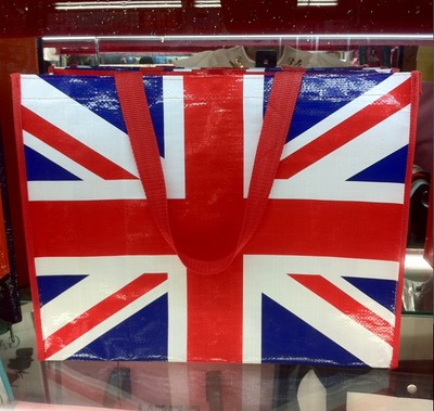 Manufacturer direct national flag woven bag peritoneal tote bag shopping bag