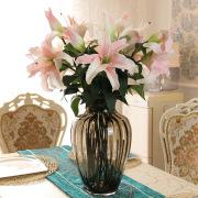 PU extra artificial flower plastic flowers silk flowers artificial flowers of lilies home decor