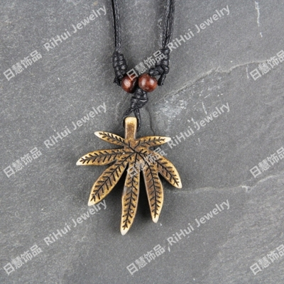 Being second-class beef ipads idea for thread necklace retro made old ethnic ornaments lucky beach hemp leaves X0411