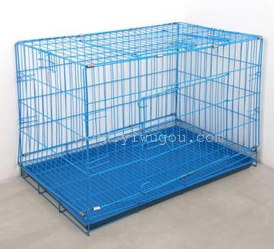 Folding stainless steel wire cage in small dogs samoyed dog cage dog cage dog supplies pet Teddy House