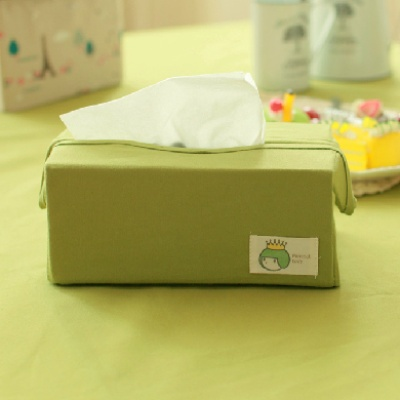High grade canvas pure color cloth art household smoke paper box household dining room napkin paper box car tissue box