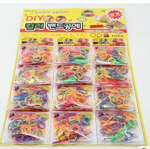 DIY Rainbow luminous silicone rubber band bracelets tie Rainbow rubber bands bracelet luminous suits