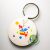 MDF key chain key ring blank thermal transfer supplies wholesale