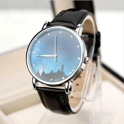 Korean fashion watches-color light sky Meteor minimalist watch
