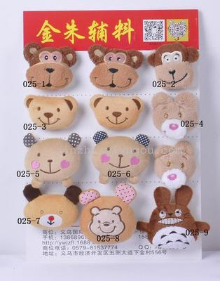 Factory baby socks accessories wholesale to sample processing cartoon animal head 40445