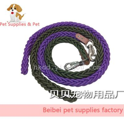 Traction rope dog pet supplies thoraco-dorsal thoracic dorsal braided 8 medium and large dog collars leash leash
