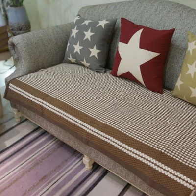 Lady white cotton woven sofa cushion cushion fabric in summer high fashion slip modern cushions