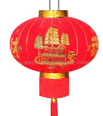 Lantern flocking cloth red lanterns advertising gold Lantern lanterns online free to join