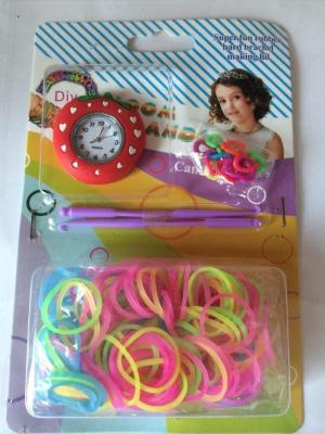 Crochet Rainbow rubber band watches silicone watch watch s buckle set DIY creative set watches