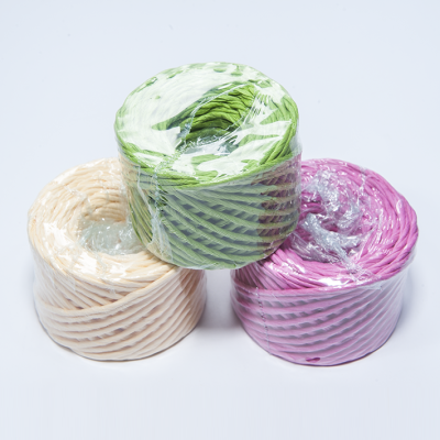 7.7 string color double fine paper rope hand rush wholesale DIY
