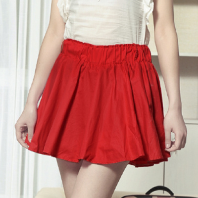 Summer commuting in the new 2014 skirts versatile skirt Korean solid-colored cotton pleated skirt women's skirt