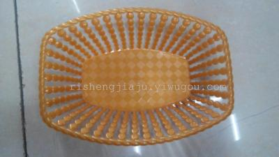 Creative openwork basket rectangular plastic fruit new water drop-shaped fruit basket S-4336