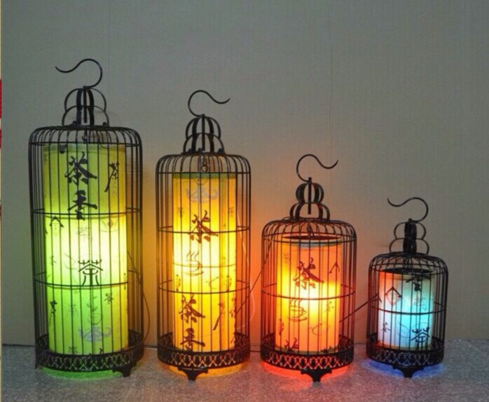 Wrought Iron Antique Lamps Hand Drawn