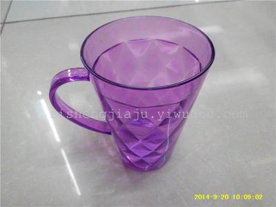 High carved transparent glass cup creative fashion with a handle-like mouthwash toothbrush Cup RS-2718