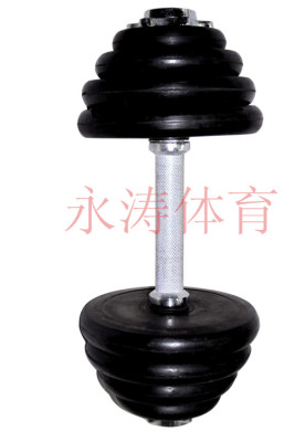 Electroplating paint mercerized 10kg removable dumbbell rod dumbbell