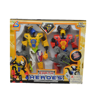 Process-color plastic robot toys transformers toys