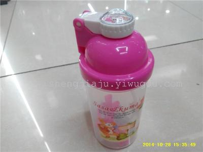 Rabbit print water bottle straps bouncing baby children water bottle straw pot play cover RS-2735