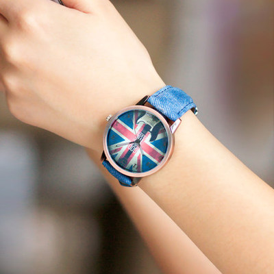 HIIN Korea fashionable wrist-skin trend of female fashion students to watch England Cowboys quartz watch
