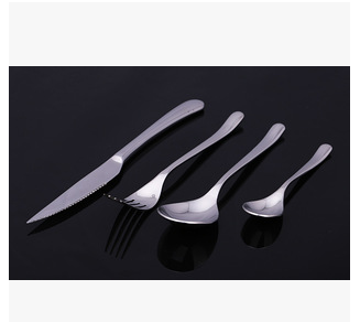 Five-star Hotel West dishes specializing in the production of stainless steel tableware cutlery steak knives and forks, fork and spoon set