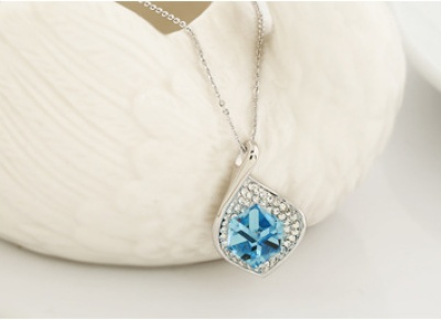 Austria Crystal jewelry Navy Blue Ladies high fashion fine jewelry pendant pendants wholesale