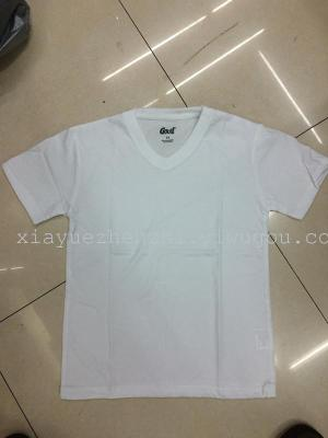180 grams of white cotton manufacturers inventory V leading children short sleeved t-shirt t-shirt t-shirt