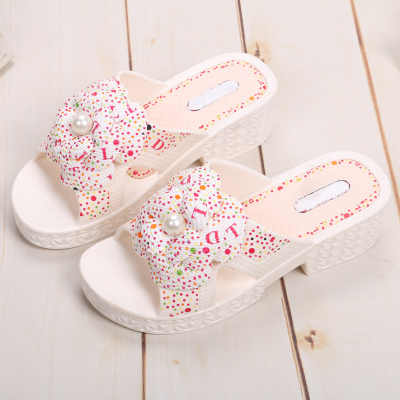 2015 summer new style fashion flower Pearl wholesale slippers home slippers