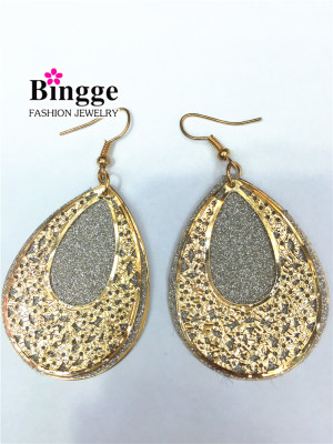 European and American fashion accessories iron double decked earrings.