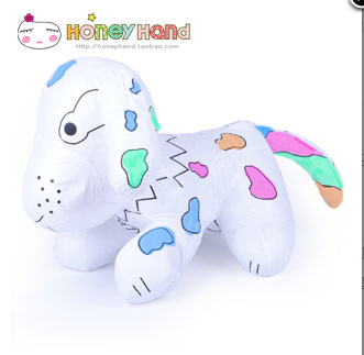 Happy doll toy dog hand made children's graffiti fabric toys
