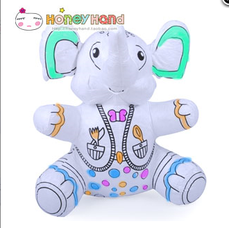 Happy baby elephant hand made children's graffiti fabric toys