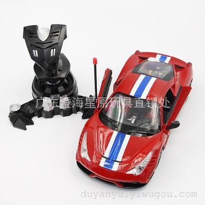 Automatic door Ferrari remote control car remote control toy bar remote control electric toy