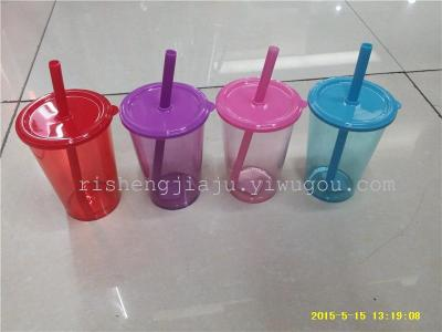 Transparent acrylic sippy cups bar sippy cups advertising gifts suction cup RS-2826