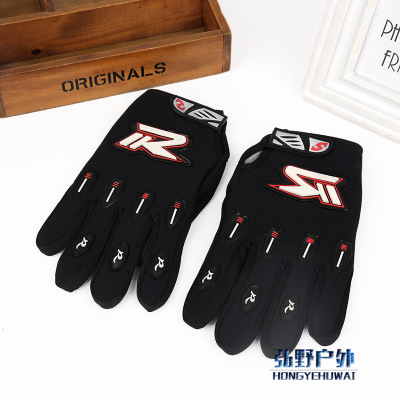 Riding wear-resistant anti-slip r word campaign long finger glove spring/summer and autumn both sexes the same gloves