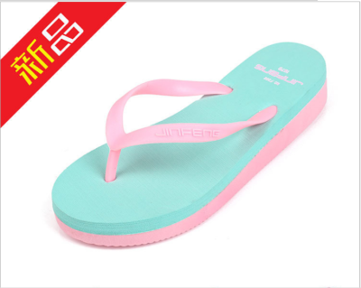 New antiskid slippers ladies high-heeled slippers slippers wholesale candy color high elastic