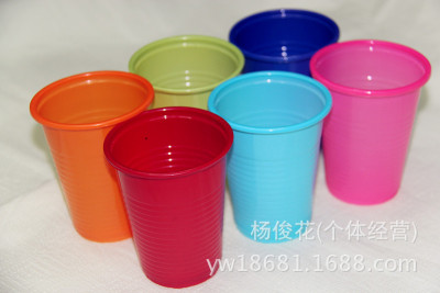 Disposable plastic glasses pp color water glass