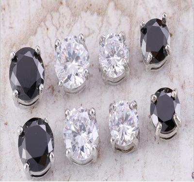 Four-claw zircon strong magnetic magnetic earring male and female magnetic magnetic earring